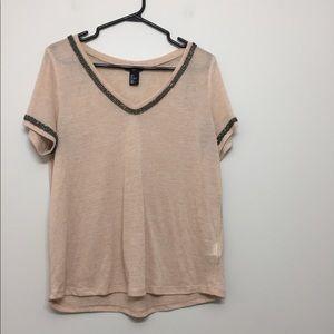 3/$30 H&M Jewelled Sheer T-Shirt Sz S
